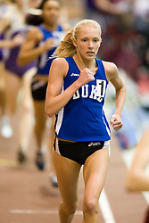 Katie Doswell (Duke) in the women's 1000m run.  Day 2 of the Virginia Tech Invitational Track and Field meet was held at the Rector Field House on the campus of Virginia Tech in Blacksburg, VA on January 12, 2008.