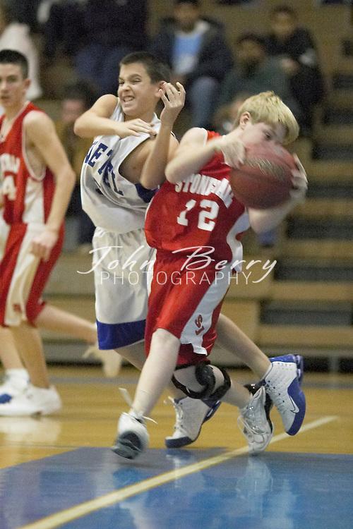 MCHS 8th Grade Boys Basketball..vs North Fork..Third Period..December 17, 2004
