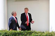 President Donald Trump and King Abdullah II