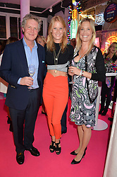 BEN & LUCY SANGSTER and their daughter ELIZA SANGSTER at Light Up Your Life - a party hosted by Lillingston held at Lights of Soho, 35 Brewer Street, London on 1st October 2015.