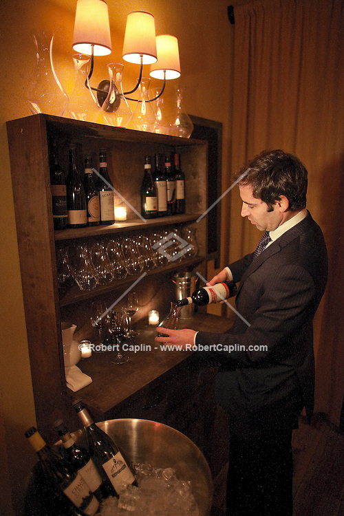 John Slover, the wine director of Ciano in Manhattan. 45 East 22nd NYC...Photo by Robert Caplin