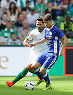 Claudio Pizarro of SV Werder Bremen and Oscar of Chelsea during the pre season friendly match at Weserstadion, Bremen, Germany.<br /> Picture by EXPA Pictures/Focus Images Ltd 07814482222<br /> 07/08/2016<br /> *** UK & IRELAND ONLY ***<br /> EXPA-EIB-160807-0237.jpg