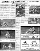 Several Images taken at 2005 Round #8 ITP Quadcross were featured on page 25 of the Sept/Oct 2005 AMX Newsletter.