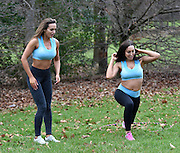 EXCLUSIVE<br /> Ex on the beach stars Laura Alisha Summers with Ali drew working out <br /> in PT session <br /> ©Exclusivepix Media