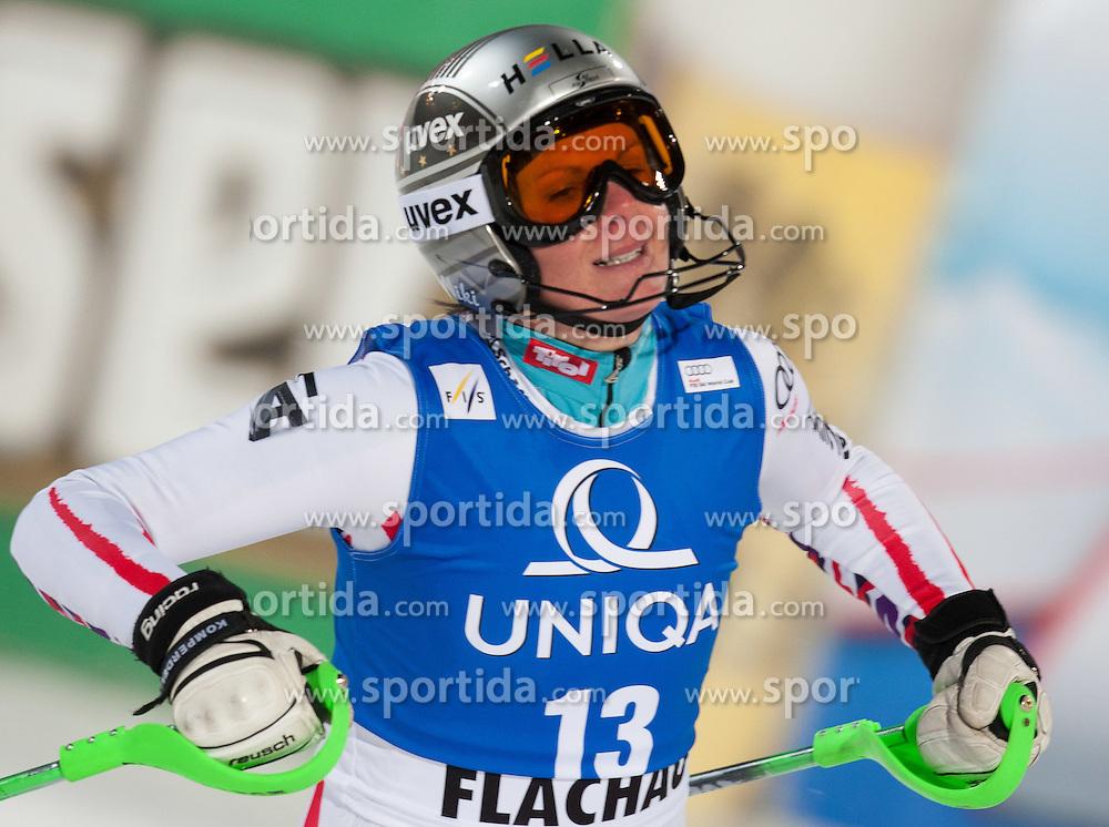 20.12.2011, Hermann Maier Piste, Flachau, AUT, FIS Weltcup Ski Alpin, Damen, Slalom nach dem 2. Durchgang, im Bild Nicole Hosp (AUT) // Nicole Hosp of Austria after her 2nd run of Slalom at FIS Ski Alpine Worldcup at Hermann Maier Pist in Flachau, Austria on 2011/12/20. EXPA Pictures © 2011, PhotoCredit: EXPA/ Johann Groder