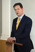 © Licensed to London News Pictures. 08/05/2015. London, UK Deputy Prime Minister and Linear of the Liberal Democrats resigns as leader today 8th May 2015 after his party was almost wiped out entirely in the UK General Election. Photo credit : Stephen Simpson/LNP