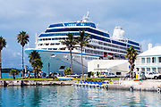 Celebrity cruise ship docked in St George, Bermuda