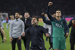 Tottenham's coach Mauricio Pochettino end joy after the 1/2 final return game of the Champion's League, Ajax vs Tottenham in Amsterdam ArenA, Amsterdam, Netherlands, on May 8th, 2019. Tottenham won 3-2. Photo by Henri Szwarc/ABACAPRESS.COM