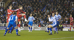 Reading, England - Saturday, December 8, 2007: Liverpool's Fernando Torres shoots against Reading during the Premiership match at the Madejski Stadium. (Photo by David Rawcliffe/Propaganda)