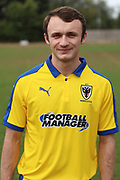 AFC Wimbledon Alex Panamarenko during the AFC Wimbledon 2018/19 official photocall at the Kings Sports Ground, New Malden, United Kingdom on 31 July 2018. Picture by Matthew Redman.