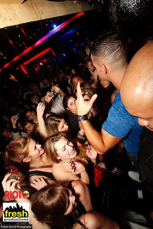 "Fresh Productions presents Fist Pump at Time Supperclub on March 5th, 2010. Mike ""The Situation"", one of the stars of MTV's Jersey Shores, was the special guest. Much screaming and reaching abounded."