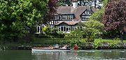 "Maidenhead. Berkshire. United Kingdom. General view. Spectators watch the racing from a ""slipper launch""  racing at the 2017 Maidenhead Junior Regatta  River Thames. <br /> <br /> [©Peter SPURRIER/Intersport Images] Sunday. 14.05.2017"