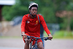 ROTTACH-EGERN, GERMANY - Friday, July 28, 2017: Liverpool's Oviemuno Ovie Ejaria cycles to a training session at FC Rottach-Egern on day three of the preseason training camp in Germany. (Pic by David Rawcliffe/Propaganda)