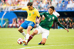 July 2, 2018 - Samara, Russia - 180702 Philippe Coutinho of Brazil and Hugo Ayala of Mexico during the FIFA World Cup round of 16 match between Brazil and Mexico on July 2, 2018 in Samara..Photo: Petter Arvidson / BILDBYRÃ…N / kod PA / 92081 (Credit Image: © Petter Arvidson/Bildbyran via ZUMA Press)