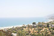 View of the California coastline from Pacific Palisades, California