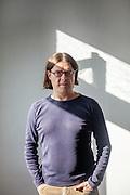 Schriftsteller Akos Doma fotografiert in Prag für das Prager Literaturhaus.