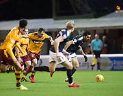 23rd December 2017, Fir Park, Motherwell, Dundee; Scottish Premier League football, Motherwell versus Dundee; Dundee's Sofien Moussa goes past Motherwell's Peter Hartley