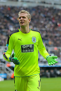 Jonas Lossl (#1) of Huddersfield Town during the Premier League match between Newcastle United and Huddersfield Town at St. James's Park, Newcastle, England on 31 March 2018. Picture by Craig Doyle.