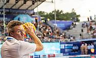 Referee NAUMOV Sergey (RUS)<br /> HUN - ITA Hungary (white caps) vs. Italy (blue caps) <br /> Barcelona 18/07/18 Piscines Bernat Picornell <br /> Men qualification<br /> 33rd LEN European Water Polo Championships - Barcelona 2018 <br /> Photo Giorgio Scala/Deepbluemedia/Insidefoto