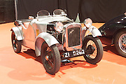 "RIAC Classic Car Show 2013, RDS, Silver Bullet_Austin Seven Special. This model was constructed over a number of years using a scraped 1929 Box Saloon as a basis. It can truly be called a piece of classic recycling. The body frame is made of angle iron to which the aluminium panels are attached by the bolts holding it together, a technique learned from boyhood experience of ""Meccano"". Irish, Photo, Archive."
