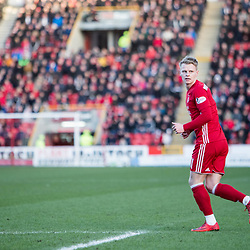 Aberdeen v Kilmarnock, Scottish Premiership, 27th January 2018<br /> <br /> Aberdeen v Kilmarnock, Scottish Premiership, 27th January 2018 &copy; Scott Cameron Baxter | SportPix.org.uk<br /> <br /> Gary Mackay-Steven prepares for a corner.