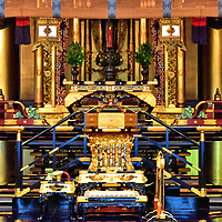 Amidado Altar at Nishi Honganji in Kyoto, Japan <br />