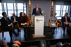 © Licensed to London News Pictures. 18/02/2019. London, UK. MP Chuka Umuna attends an event in Westminster, London. They have announced the formation of a new political party, The Independent Group, formed by breakaway Labour MPs who disagree with Labour Party action on Brexit. Photo credit: Rob Pinney/LNP