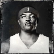 Sep 29, 2014; Auburn Hills, MI, USA;  (Editor's Note: Photo was post-processed creating a digital tintype) Detroit Pistons forward Josh Smith (6) during media day at the Pistons practice facility. Mandatory Credit: Rick Osentoski-USA TODAY Sports