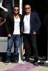 """Peter Andre and his brother Andrew attend The Launch Of Her New Boutique Opening Of """"Amy Childs Boutique.""""Brentwood,Essex.London, Wednesday September 5, 2012"""