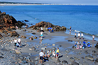 Orgunquit, Maine, USA, cove, sandy, rocky, pool, blue sky, sunshine, children, adults, 201110105078.<br /> <br /> Copyright Image from Victor Patterson, 54 Dorchester Park, Belfast, UK, BT9 6RJ<br /> <br /> t1: +44 28 9066 1296 (from Rep of Ireland 048 9066 1296)<br /> t2: +44 28 9002 2446 (from Rep of Ireland 048 9002 2446)<br /> m: +44 7802 353836<br /> <br /> victorpatterson@me.com<br /> www.victorpatterson.com<br /> <br /> Please see my Terms and Conditions of Use at victorpatterson.com . It is IMPORTANT that you familiarise yourself with them.<br /> <br /> Images used on the Internet incur an additional cost and must be visibly watermarked i.e. ©Victor Patterson within the body of the image and copyright metadata must not be deleted. Images used on the Internet have a size restriction of 4kbs and are chargeable at rates available at victorpatterson.com.<br /> <br /> This image is only available for the use of the download recipient i.e. television station, newspaper, magazine, book publisher, etc, and must not be passed on to any third party. It is also downloaded on condition that each and every usage is notified within 7 days to victorpatterson@me.com<br /> <br /> The right of Victor Patterson to be identified as the author is asserted in accordance with The Copyright Designs And Patents Act (1988). All moral rights are asserted.