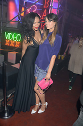 SARAH-JANE CRAWFORD and LILAH PARSONS at Club DNKY in celebration of #DKNYARTWORKS held at The Firestation, Lambeth High Street, London SE1 on 12th June 2013.