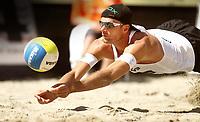 Volleyball Sandvolleyball Beachvolleyball<br />Swatch FIVB World Tour Conoco Phillips Grand Slam<br />Stavanger 270608<br />Foto: Sigbjørn Andreas Hofsmo, Digitalsport<br /><br />Jørre Kjemperud Jorre