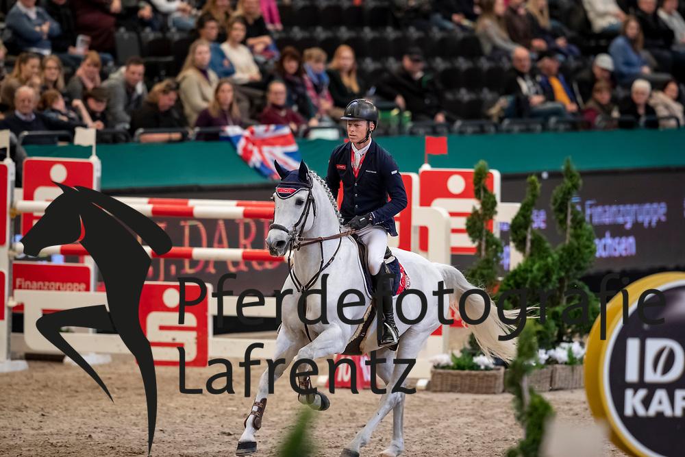 KÜHNER Max (AUT), Chardonnay 79<br /> Leipzig - Partner Pferd 2019<br /> IDEE Kaffe Preis<br /> CSI5*<br /> 18. Januar 2019<br /> © www.sportfotos-lafrentz.de/Stefan Lafrentz