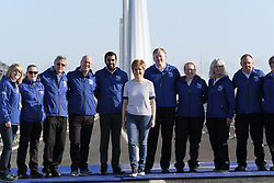 South Queensferry, Scotland, United Kingdom. 2nd of September 2017. As part of the Queensferry Crossing Experience, 50,000 people, who were successful in a public online ballot, are able to celebrate the opening of the bridge by walking over it while it is temporarily closed to traffic. First Minister of Scotland, Nicola Sturgeon, meets Bridge Ambassadors .