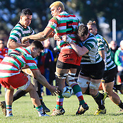 Rugby union game played between Hutt Old Boys Marist  v Old Boys University, at  Petone Park, Petone, Wellington, New Zealand, on 5 August 2017.  OBU won 32-19.
