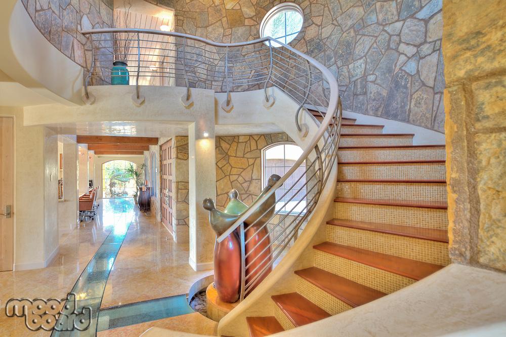Hallway interior design in manor house