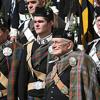 Atholl Highlanders Parade, Blair Castle, Perthshire..26.05.07<br /> John Murray 11th Duke of Atholl with his son Bruce Marquess of Tullibardine (left) and Grandson Michael Murray Earl of Strathtay & Strathardle (second left)<br /> Picture by Graeme Hart.<br /> Copyright Perthshire Picture Agency<br /> Tel: 01738 623350  Mobile: 07990 594431