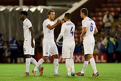 Harry Kane of England shakes hands with his team mates - Photo mandatory by-line: Matt McNulty/JMP - Mobile: 07966 386802 - 11/06/2015 - SPORT - Football - Barnsley - Oakwell Stadium - England U21 v Belarus U21 - International Friendly U21s