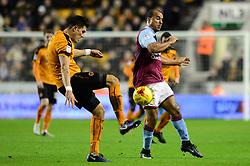 Gabriel Agbonlahor of Aston Villa closes down the ball - Mandatory by-line: Dougie Allward/JMP - 14/01/2017 - FOOTBALL - Molineux - Wolverhampton, England - Wolverhampton Wanderers v Aston Villa - Sky Bet Championship