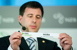 Ales Zavrl of NZS with paper ND Mura during NZS Draw for season 2015/16 on June 23, 2015 in Brdo pri Kranju, Slovenia. Photo by Vid Ponikvar / Sportida