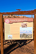Interpretive sign at Grand Staircase-Escalante National Monument, Utah