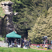 Filming takes place on the set of Executive producer, writer and director Sir Peter Jackson sequel 'The Hobbit: An Unexpected Journey' in a remote valley in Paradise,  Glenorchy, 66km from Queenstown. South Island, New Zealand. 22nd November, 2011