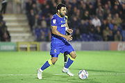 AFC Wimbledon striker Andy Barcham (17) dribbling during the EFL Sky Bet League 1 match between AFC Wimbledon and Rotherham United at the Cherry Red Records Stadium, Kingston, England on 17 October 2017. Photo by Matthew Redman.