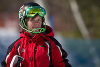 Piche Invitational Slalom 2nd run U12 girls Sunday, March 17, 2013.  Karen Bobotas Photographer