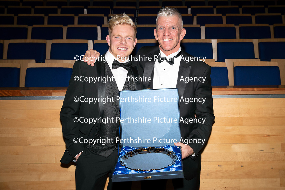 St Johnstone FC Hall of Fame Dinner, Perth Concert Hall….23.03.19<br />Jim Weir pictured with his son Sam<br />Copyright Perthshire Picture Agency<br />Tel: 01738 623350  Mobile: 07990 594431