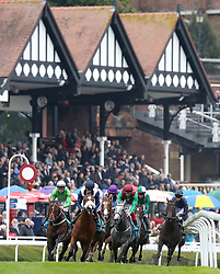 Sir Dragonet (right) ridden by Donnacha O'Brien on their way to winning The MBNA Chester Vase Stakes, during Boodles City Day at Chester Racecourse, Chester.