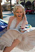 Marilyn Monroe, Statue, White Dress,  Palm Springs, CA