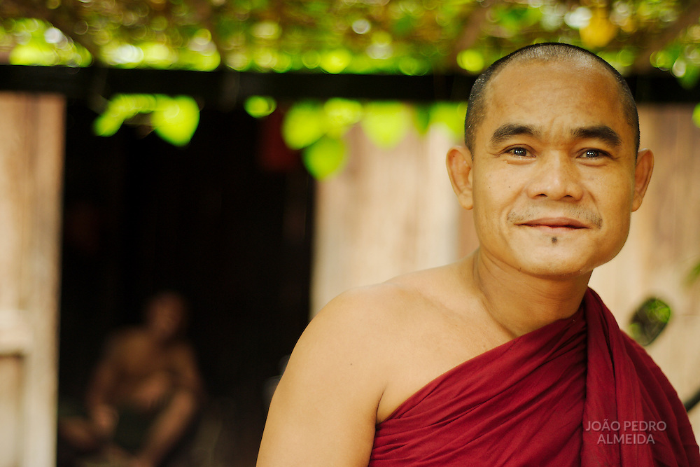 Buddhist monk at street of Mandalay