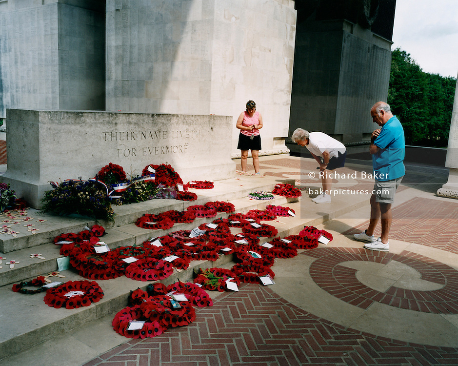 Visitors pay respects to the war dead from the first world war at the Sir Edward Lutyens designed Thiepval memorial, the largest British war memorial in the world ? there were more than 57,000 British casualties in a single day during the battle of the Somme. A total of 700,000 troops were killed on the Western Front, of whom 300,000 have no known grave..