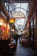 France, Paris. 2nd district . Passage des panoramas.  Historical Covered passages of Paris,